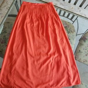 Ann Taylor Loft coral reef long skirt